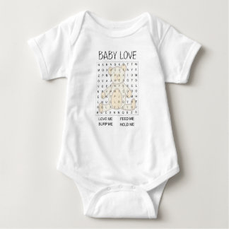 Word Search baby sleeper Baby Bodysuit