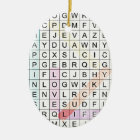 Word Search Ceramic Ornament