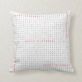 Word Search Puzzle The Birthday Gift Happy Cushion