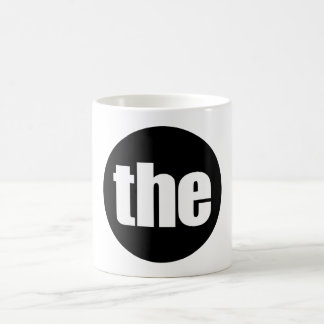 "Word ""the"" mug. Minimal art gadgets Basic White Mug"