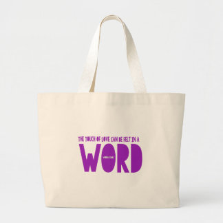 Word Tote Canvas Bag