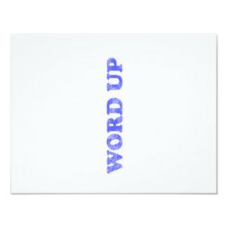 Word Up 11 Cm X 14 Cm Invitation Card