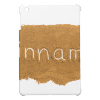 Word written in Cinnamon powder on white backgroun Case For The iPad Mini