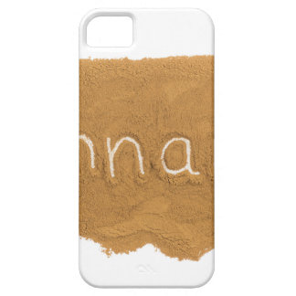Word written in Cinnamon powder on white backgroun iPhone 5 Cases