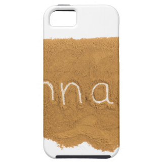 Word written in Cinnamon powder on white backgroun Tough iPhone 5 Case