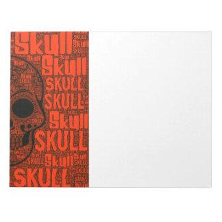 WordArt Skull B Notepad