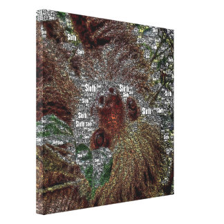WordArt Sloth Canvas Print