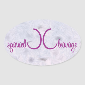 wordiness cleavage symmetrical illustration oval sticker