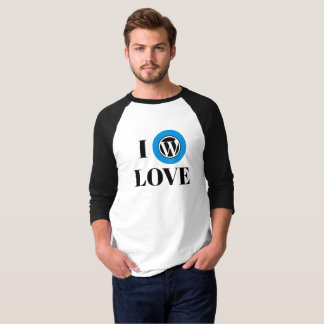 WordPress Fan 3/4 Sleeve Raglan T-Shirt