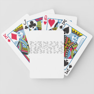 words bicycle playing cards