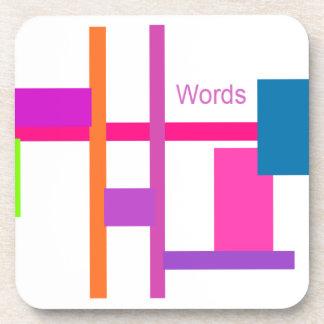 Words Drink Coaster
