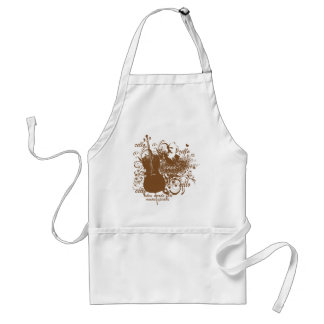 Words Fail Music Speaks Cello Musician Standard Apron