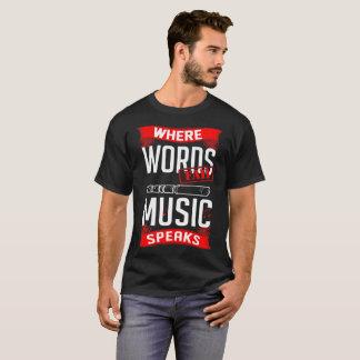 Words Fail Music Speaks Flute Music Instrument Tee