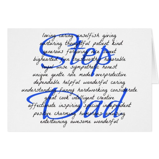 Words For a Step Dad Greeting Cards