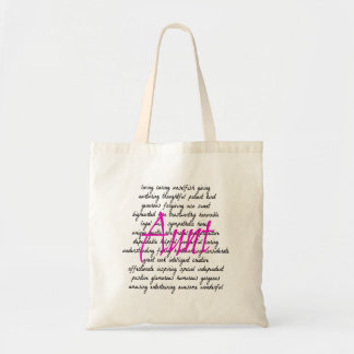Words for Aunt Budget Tote Bag