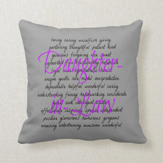 Words for Daughter-in-Law Cushions