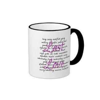 Words for Female Last Love Ringer Mug