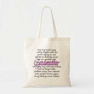Words for Godmother Budget Tote Bag