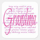 Words For Grandma Square Sticker