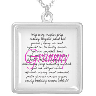 Words for Granny Square Pendant Necklace