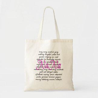 Words for NaNa Budget Tote Bag