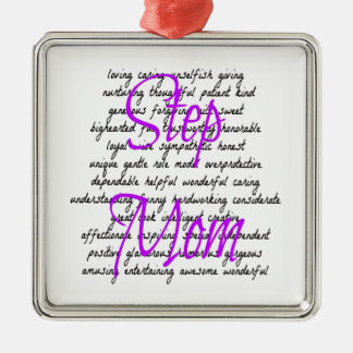 Words for Step Mom Metal Ornament
