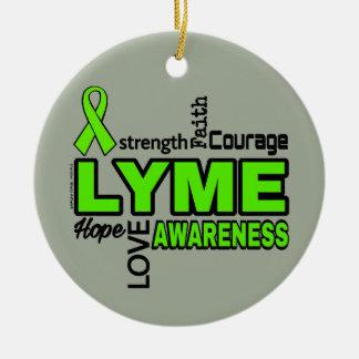 Words...Lyme Ceramic Ornament