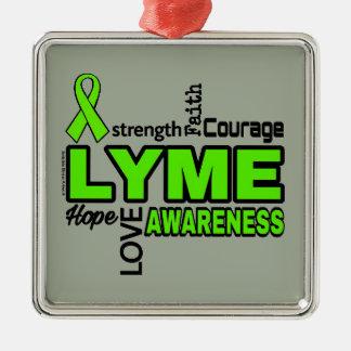Words...Lyme Metal Ornament