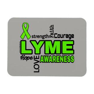 Words...Lyme Rectangular Photo Magnet