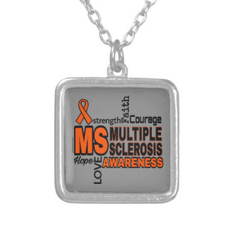 Words...MS Silver Plated Necklace