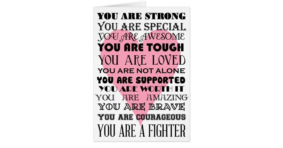 Words of encouragement get well or cancer card   Zazzle.com.au