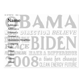 Words of Hope Obama & Biden 2008 Business Card