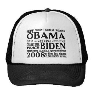 Words of Hope Obama & Biden 2008 Trucker Hat