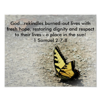 Words of Hope Scripture Butterfly Photo poster