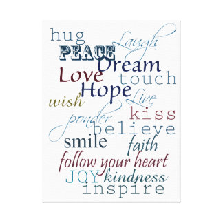 Words of Inspiration Canvas Print