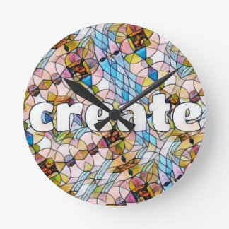 Words of Inspiration - Create Round Clock