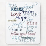 Words of Inspiration Mousepad