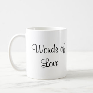 Words of Love Basic White Mug