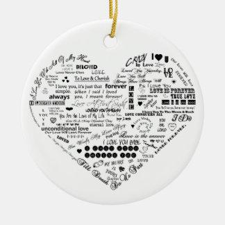 Words of Love Custom Circle Ornament