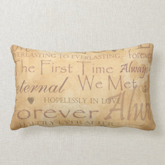 Words of Love - Forever & Always Lumbar Pillow