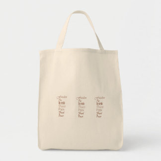 Words of Peace Grocery Tote Tote Bag