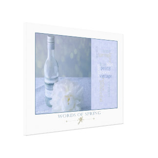 Words of Spring Canvas Print