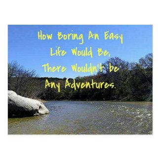 Words of Wisdom Over River Nature Landscape Postcard