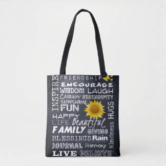 Words on a Chalkboard - Handbag/Tote Tote Bag