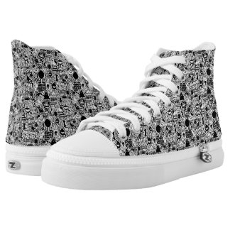 Words Pattern High Tops