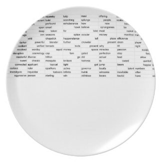 words plate