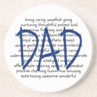 Words to Describe Dad Drink Coasters