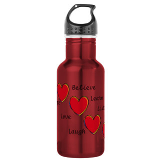 Words to live by 532 ml water bottle
