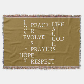 Words to live by throw blanket