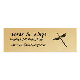Words & Wings Abstract Dragonfly and Pen Business Business Card Template